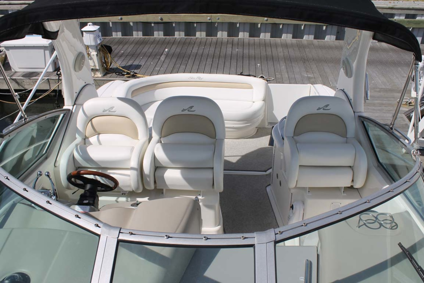 Sea Ray-340 Sundancer 2008-Miss Leah Somers Point-New Jersey-United States-Windshield And Helm Seats-1242058 | Thumbnail