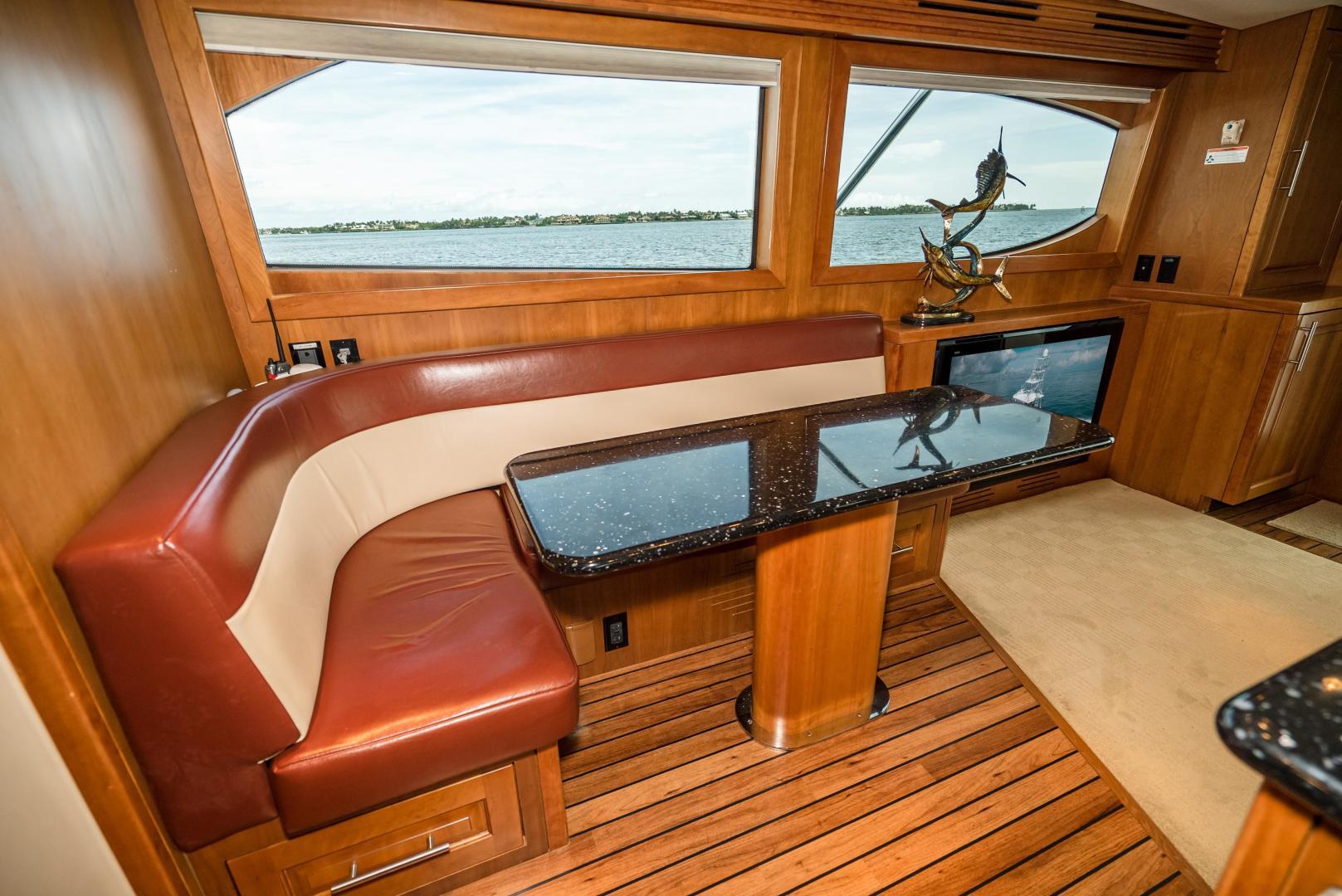 Hatteras-60 GT 2008-Ty Me Up Stuart-Florida-United States-Dinette-1255234 | Thumbnail