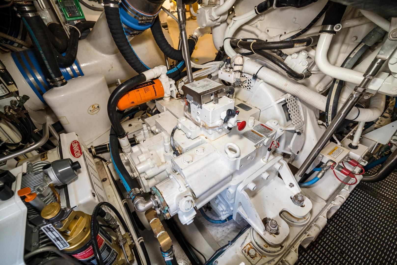 Hatteras-60 GT 2008-Ty Me Up Stuart-Florida-United States-Engine Room 14-1255303 | Thumbnail
