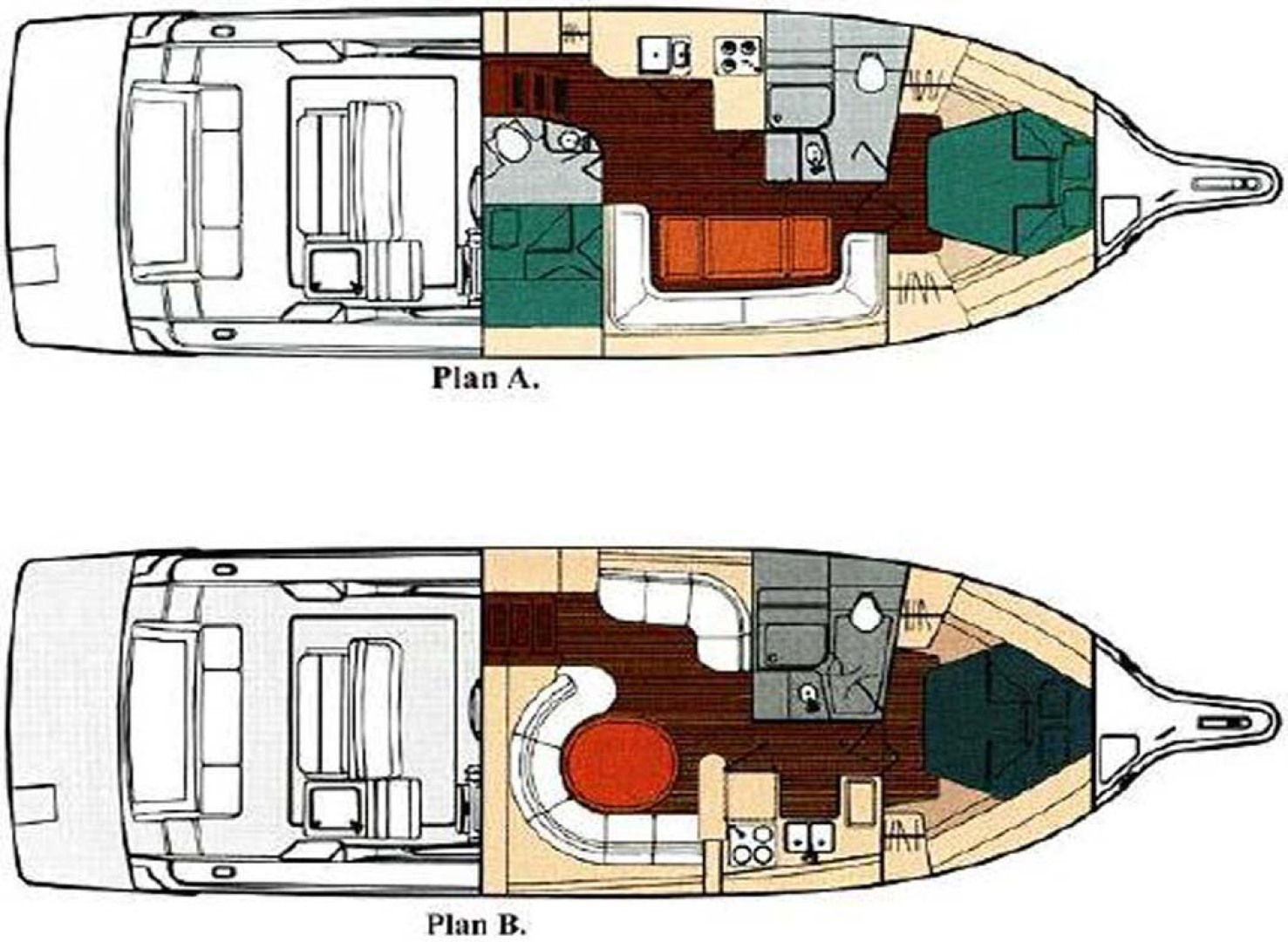 Tiara Yachts-4000 Express 2001-The Lady Barbara Melbourne-Florida-United States-40 Tiara Layouts-1246970 | Thumbnail