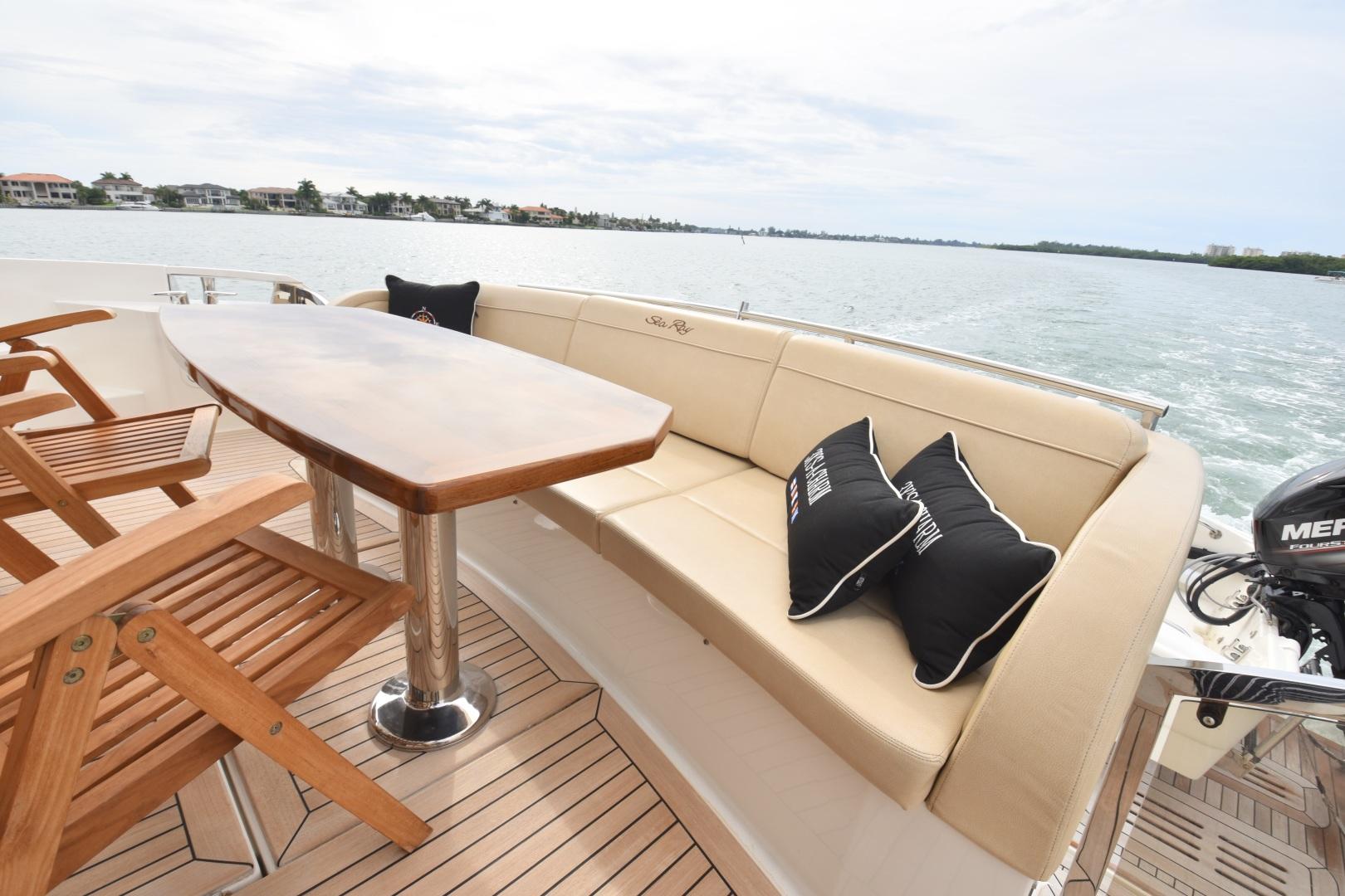 Sea Ray-L650 2016-3x's the Charm Longboat Key-Florida-United States-2016 Sea Ray L650  3x's the Charm  Aft Cockpit-1251838 | Thumbnail