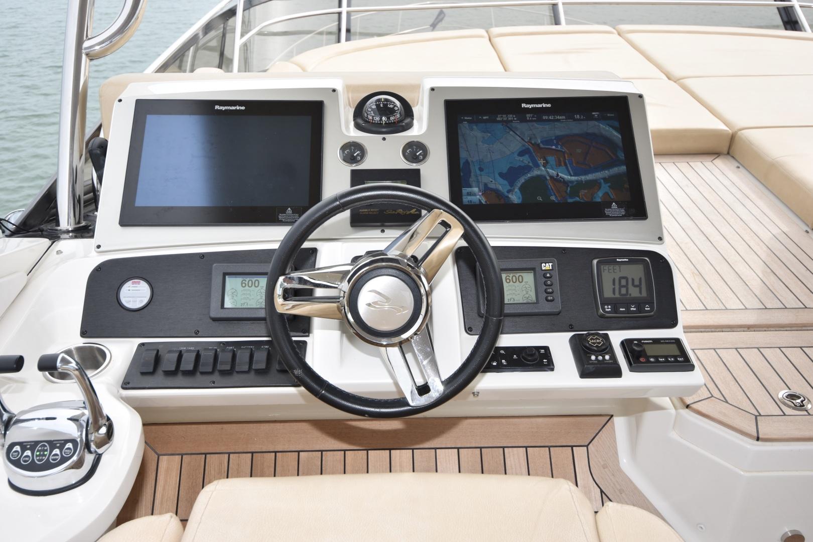 Sea Ray-L650 2016-3x's the Charm Longboat Key-Florida-United States-2016 Sea Ray L650  3x's the Charm  Flybridge Helm-1251849 | Thumbnail