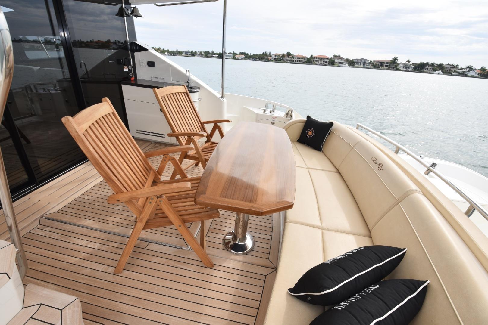 Sea Ray-L650 2016-3x's the Charm Longboat Key-Florida-United States-2016 Sea Ray L650  3x's the Charm  Aft Cockpit-1251841 | Thumbnail