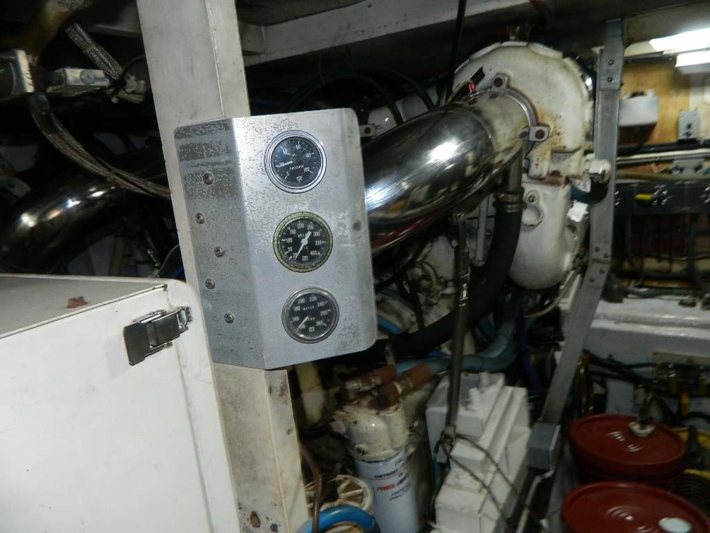 Hatteras-52 Sport Fisherman 1988-Iron Will Stuart-Florida-United States-Engine Room Gauges-1251616 | Thumbnail