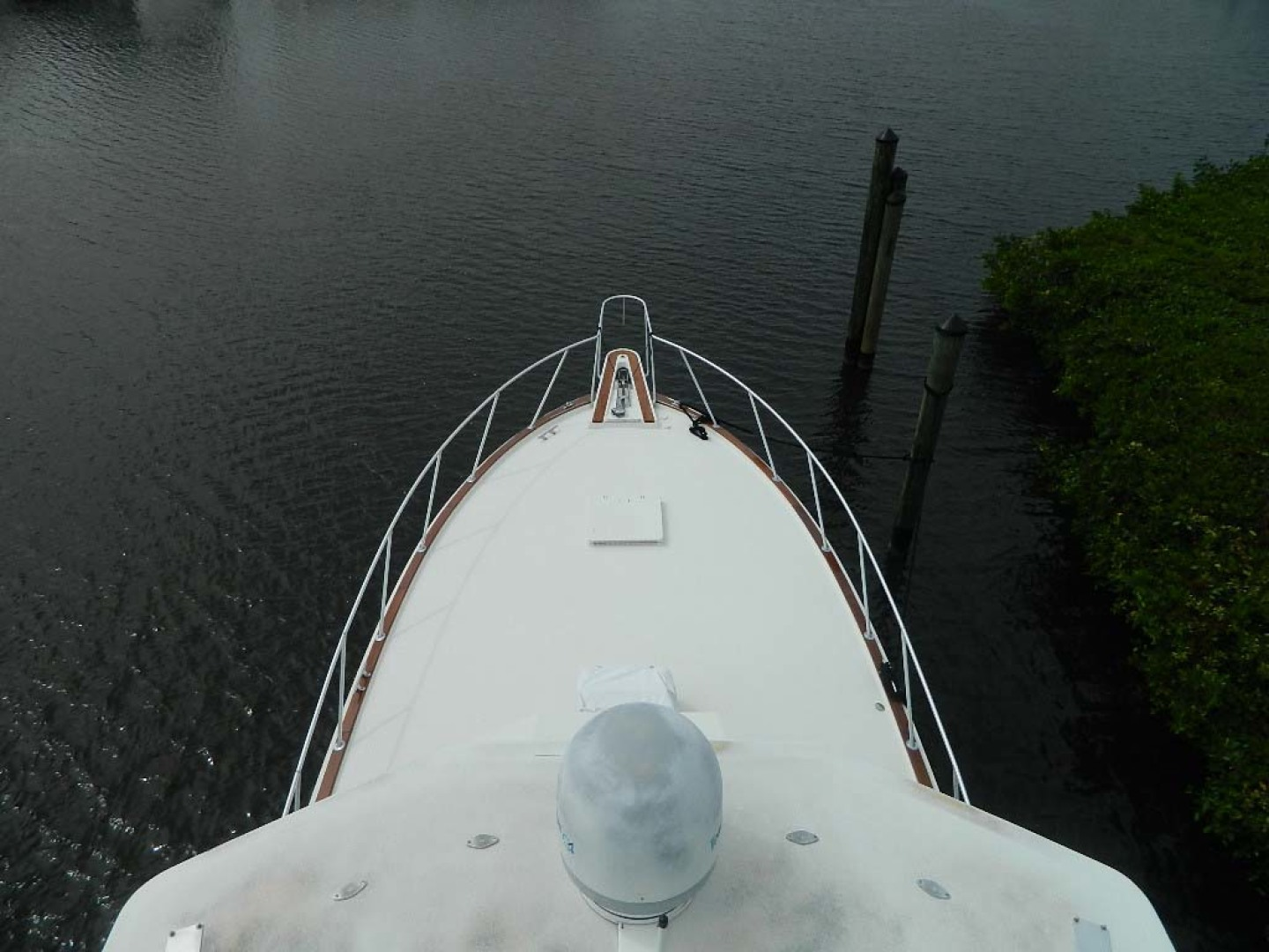 Hatteras-52 Sport Fisherman 1988-Iron Will Stuart-Florida-United States-Bow from Tower-1251564 | Thumbnail