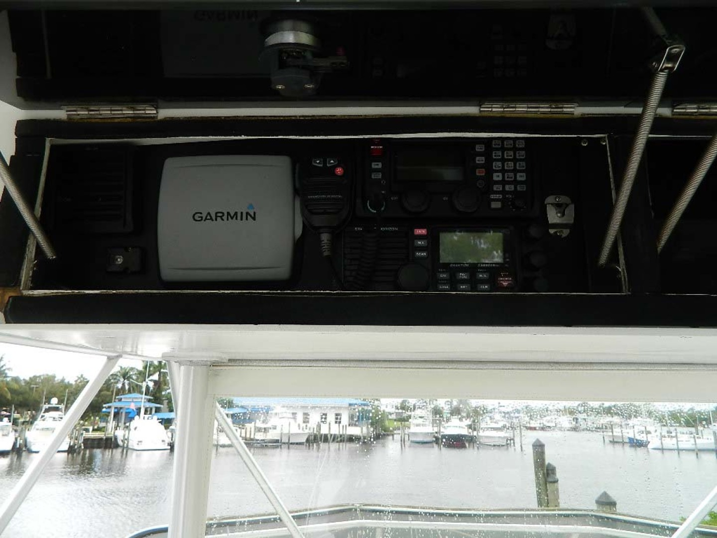 Hatteras-52 Sport Fisherman 1988-Iron Will Stuart-Florida-United States-Flybridge Electronics-1251601 | Thumbnail