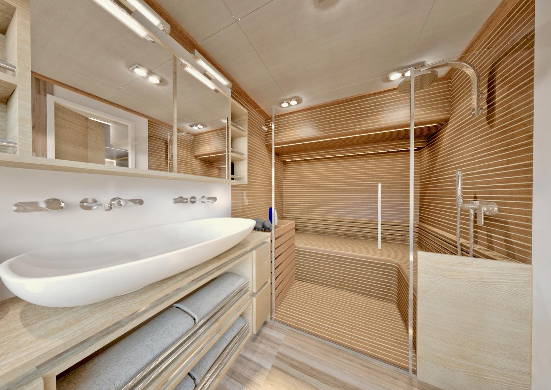 Silent-Yachts-Silent 80  2020-SILENT 80 Ancona-Italy-Master bath with steam-sauna-1262449 | Thumbnail