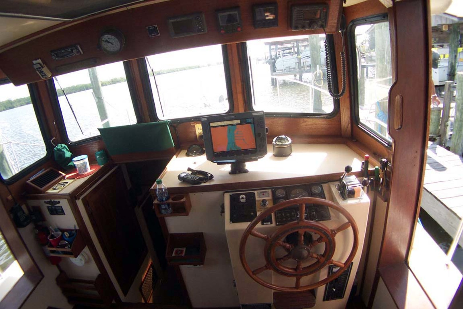 Nordic Tugs-32 with Upper Station 1997-Adriana Fort Myers Beach-Florida-United States-Pilothouse Helm-1266832 | Thumbnail