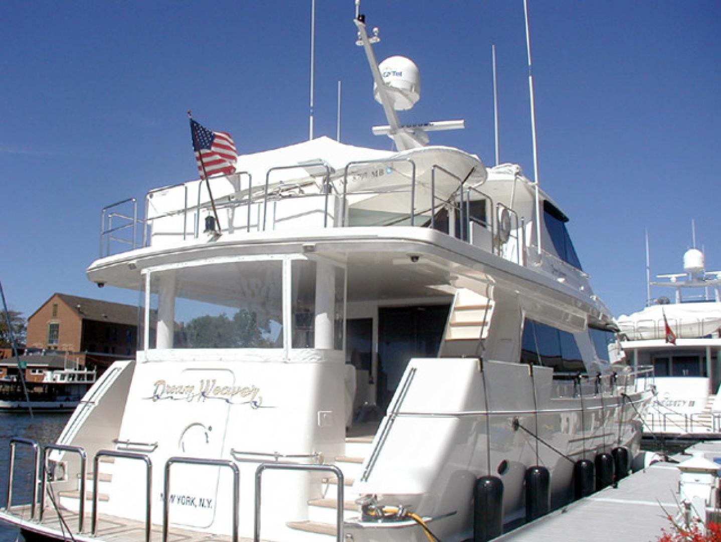 West Bay-Custom Enclosed Bridge 2005-Dream Weaver North Palm Beach-Florida-United States-Transom-1276220 | Thumbnail