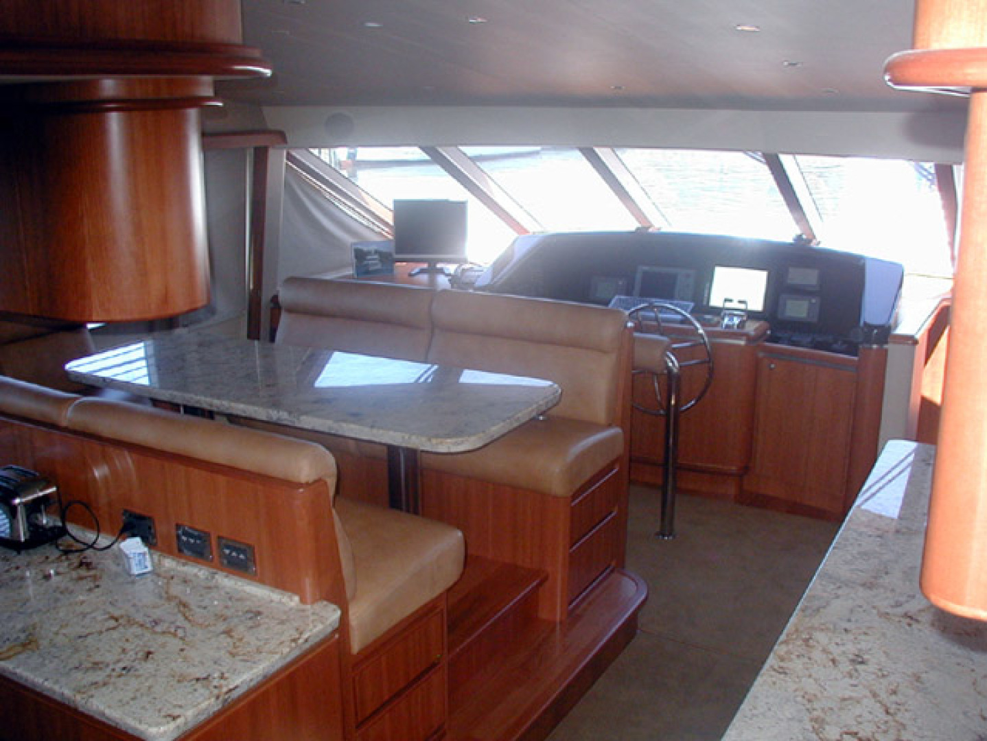 West Bay-Custom Enclosed Bridge 2005-Dream Weaver North Palm Beach-Florida-United States-Dinette Looking Forward-1276199 | Thumbnail