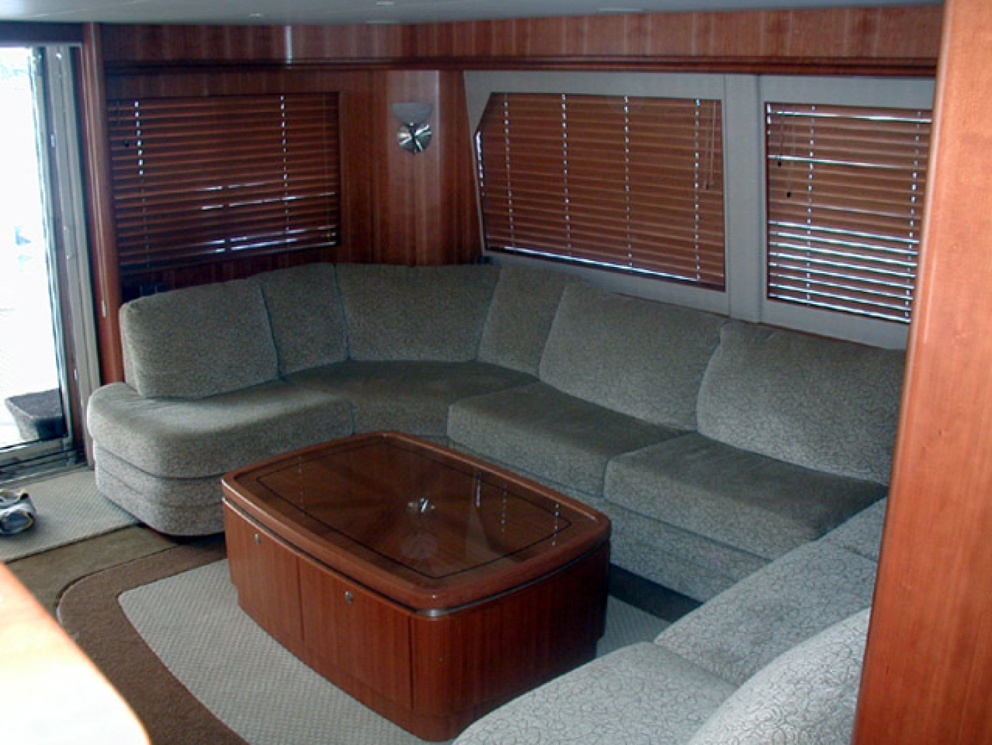 West Bay-Custom Enclosed Bridge 2005-Dream Weaver North Palm Beach-Florida-United States-Salon Looking Aft-1276196 | Thumbnail