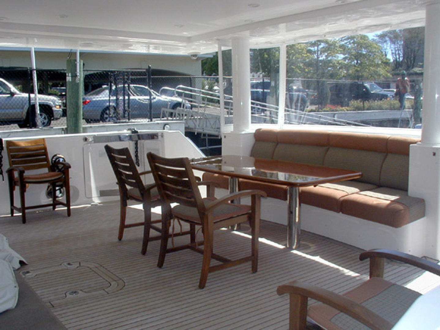West Bay-Custom Enclosed Bridge 2005-Dream Weaver North Palm Beach-Florida-United States-Aft Deck-1276218 | Thumbnail