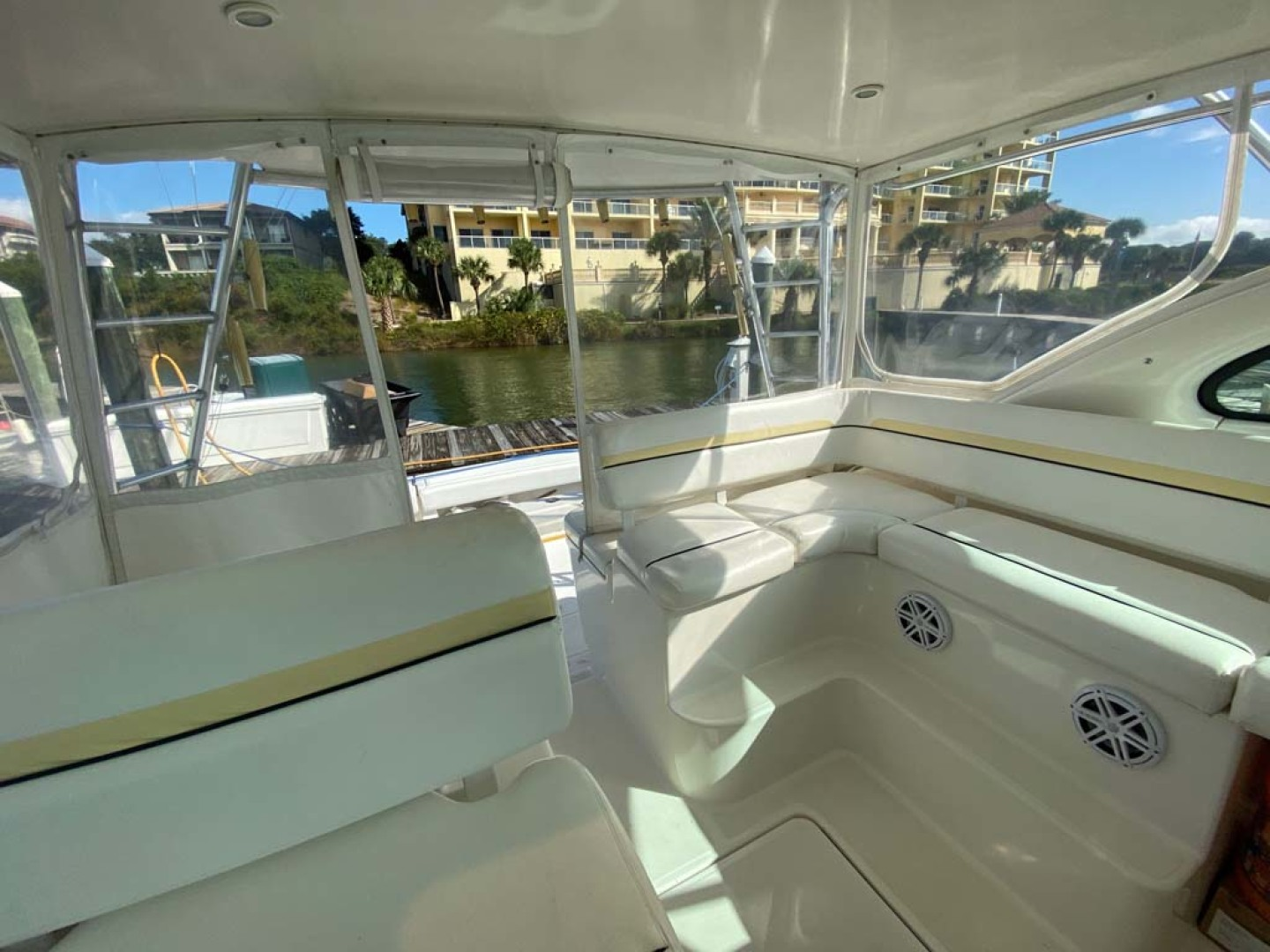 Pursuit-3800 Express 2002-Going Deep Destin-Florida-United States-Helm Deck Looking Aft-1276711 | Thumbnail