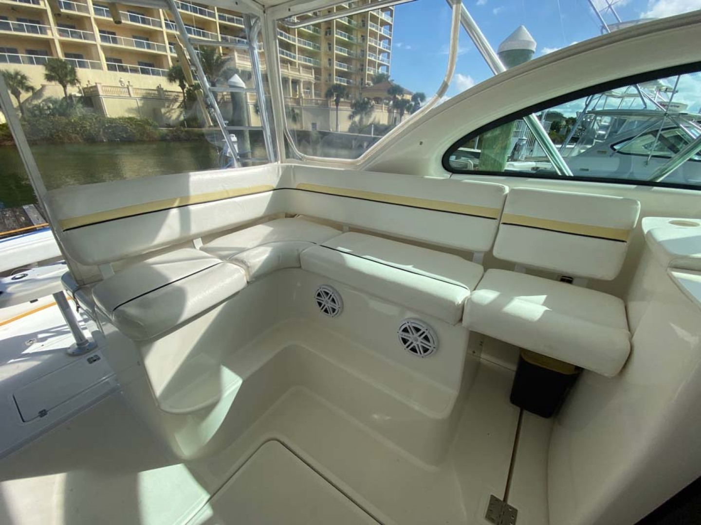 Pursuit-3800 Express 2002-Going Deep Destin-Florida-United States-Helm Deck Port Side Seating-1276705 | Thumbnail
