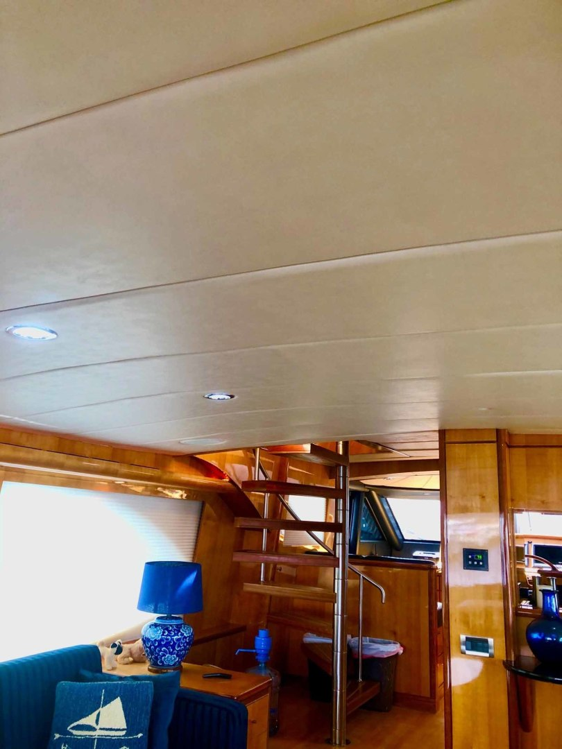 Queenship-Barretta 76 2004-SEA MYSTIC Fort Myers-Florida-United States-March 2020 Salon Headliner Replacement-1588079 | Thumbnail