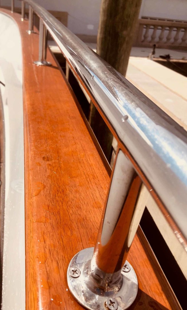 Queenship-Barretta 76 2004-SEA MYSTIC Fort Myers-Florida-United States-March 2020 Cap Rails Refinished-1588125 | Thumbnail