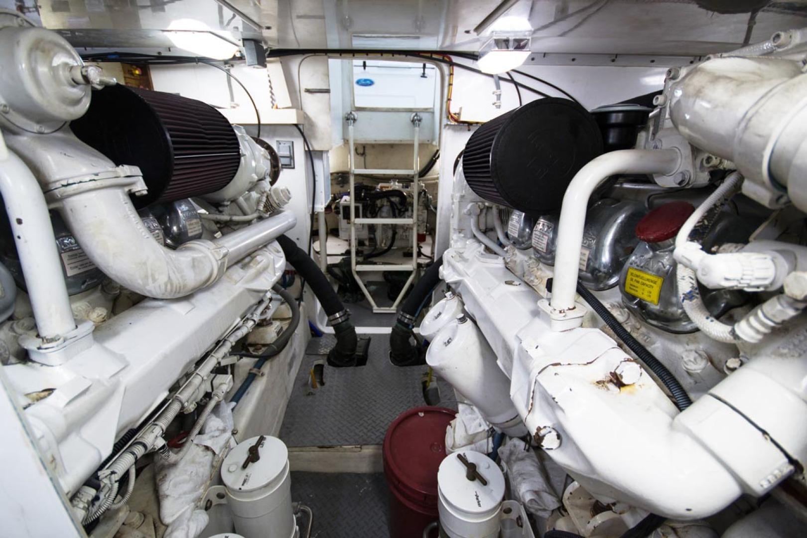 Bertram-450 Convertible 2002-SEA YA Sunny Isles Beach-Florida-United States-Engine Room-1289336 | Thumbnail