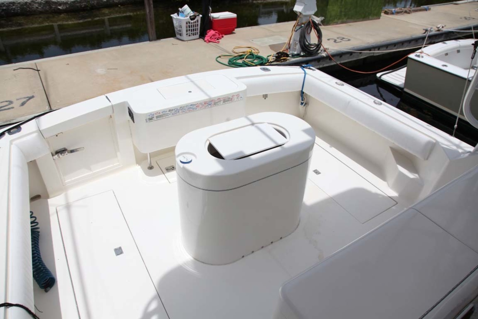 Carolina Classic-35 Express 2001-Fish Hard Key Largo-Florida-United States-In-Deck Fish Boxes (2) 55-Gallons each with Macerator Pump-1443716 | Thumbnail