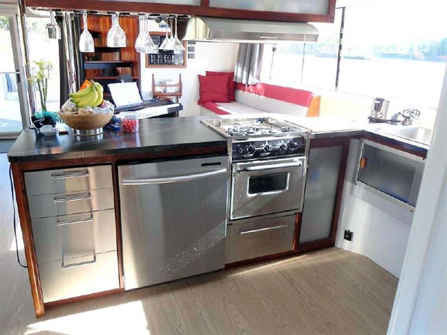 Custom-Artisanal Power Catamaran 2014-Merjo 6 Nicolet-Quebec-Canada-Galley Looking Aft-1291478 | Thumbnail