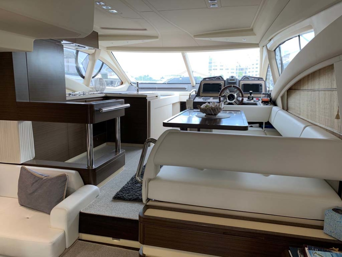 Azimut-54 Flybridge 2014-Suits Fort Lauderdale-Florida-United States-Salon View To Dining, Galley And Lower Helm-1292160 | Thumbnail