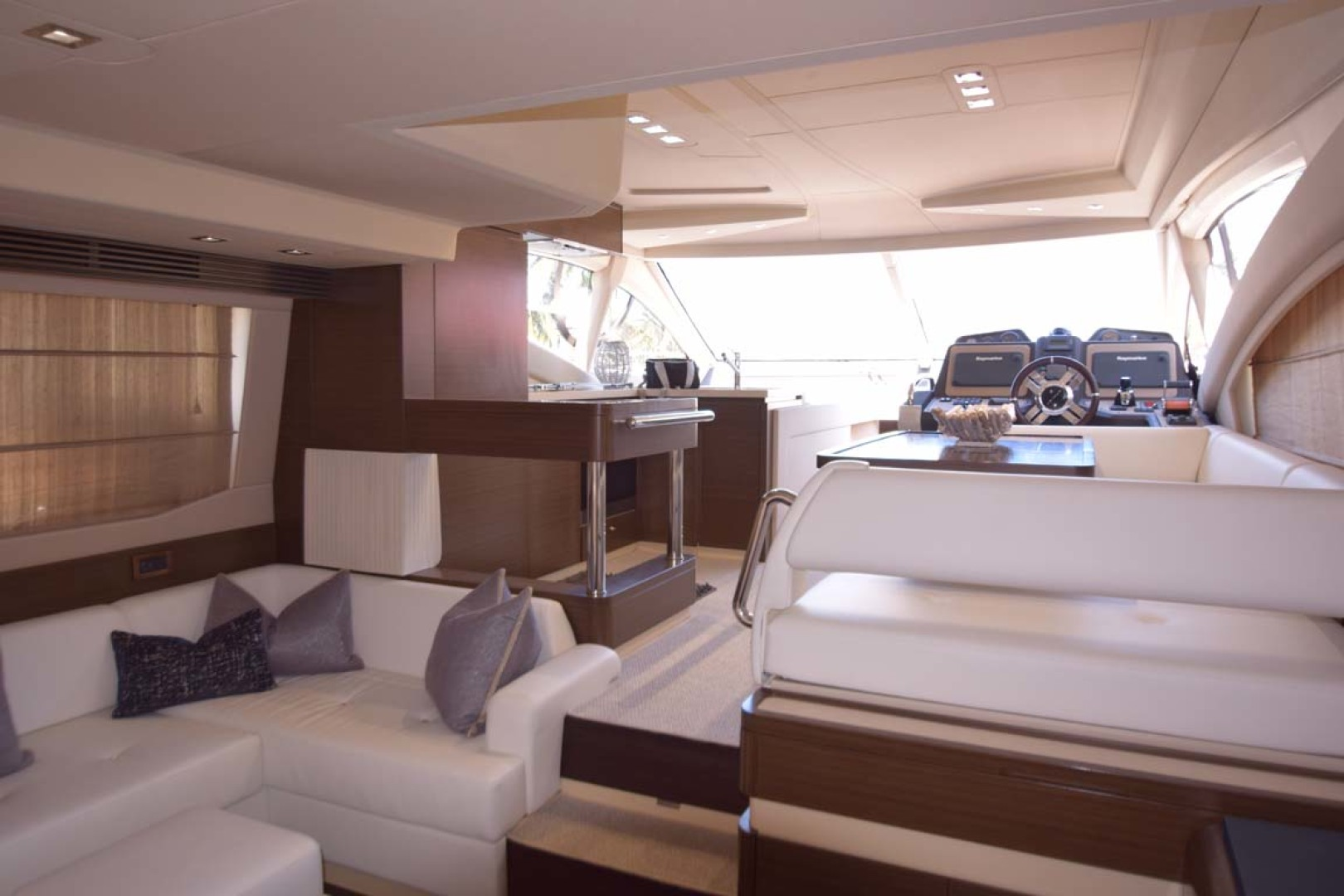 Azimut-54 Flybridge 2014-Suits Fort Lauderdale-Florida-United States-View From Salon To Lower Helm-1292162 | Thumbnail
