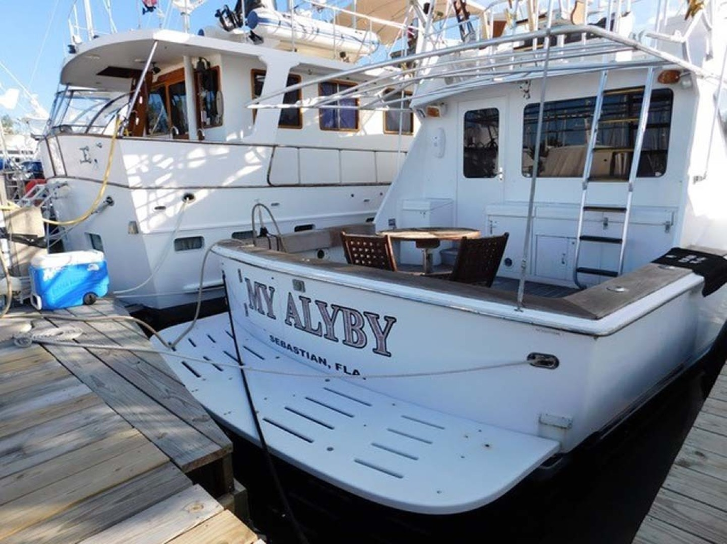 Hatteras-Convertible 1986-My Alyby Merritt Island-Florida-United States-Stern View-1294870 | Thumbnail