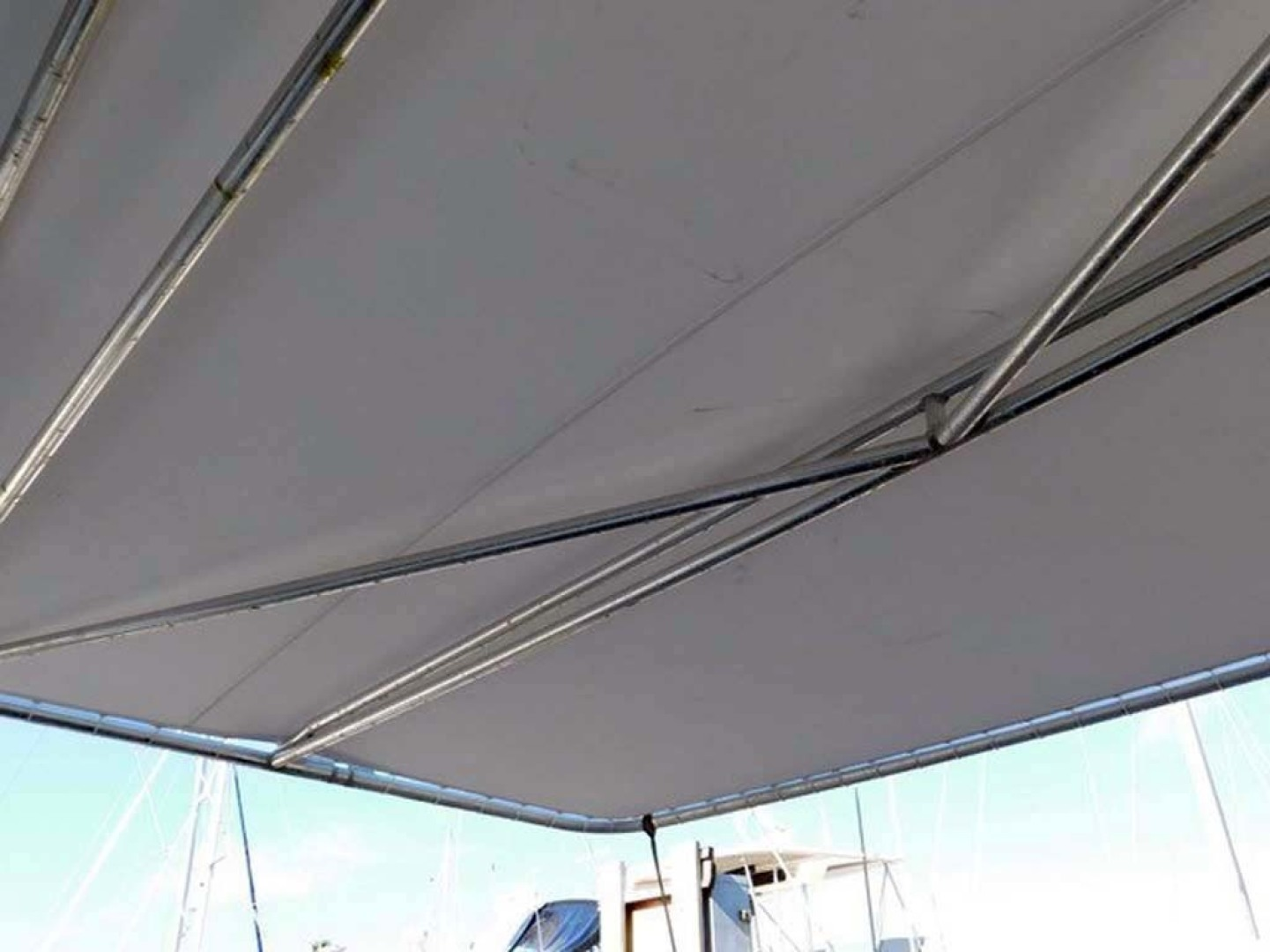 Hatteras-Convertible 1986-My Alyby Merritt Island-Florida-United States-Aft Sunshade-1410928 | Thumbnail
