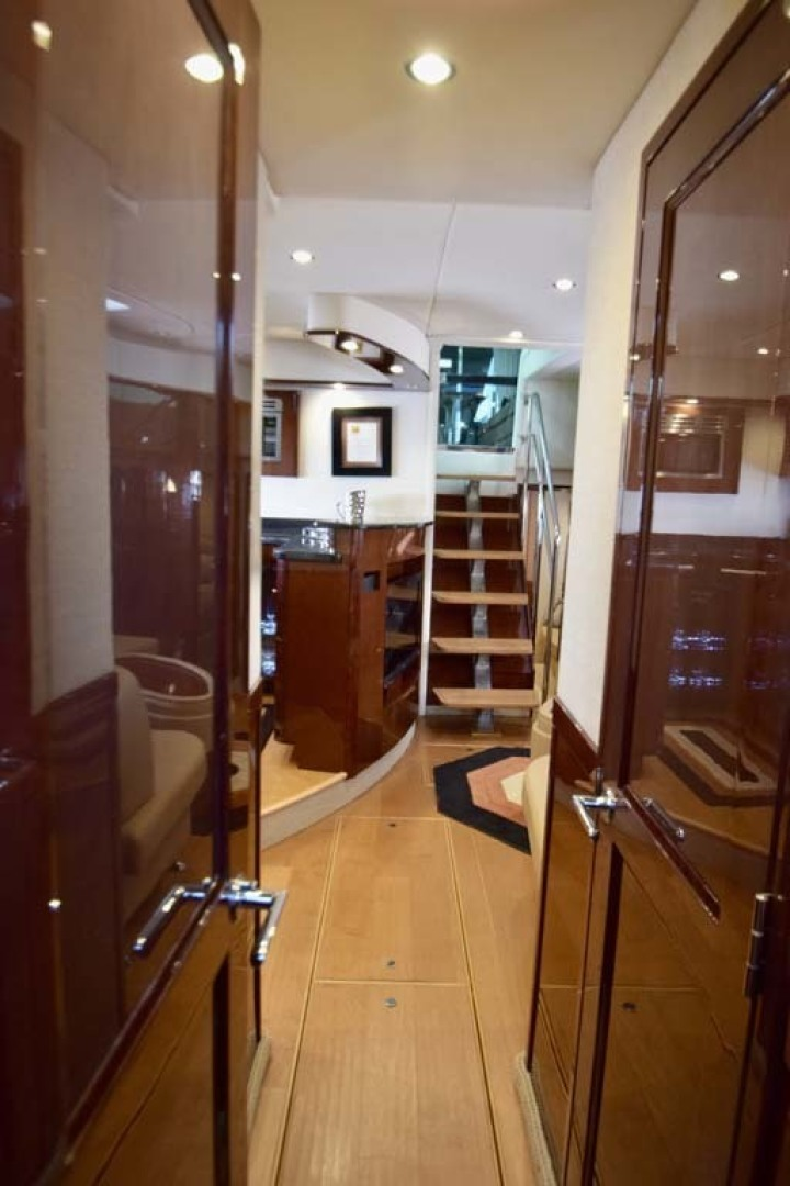 Sea Ray-Sundancer 610 2012-SON RYS Fort Myers-Florida-United States-View To Lower Salon And Galley From VIP V Berth-1298471 | Thumbnail