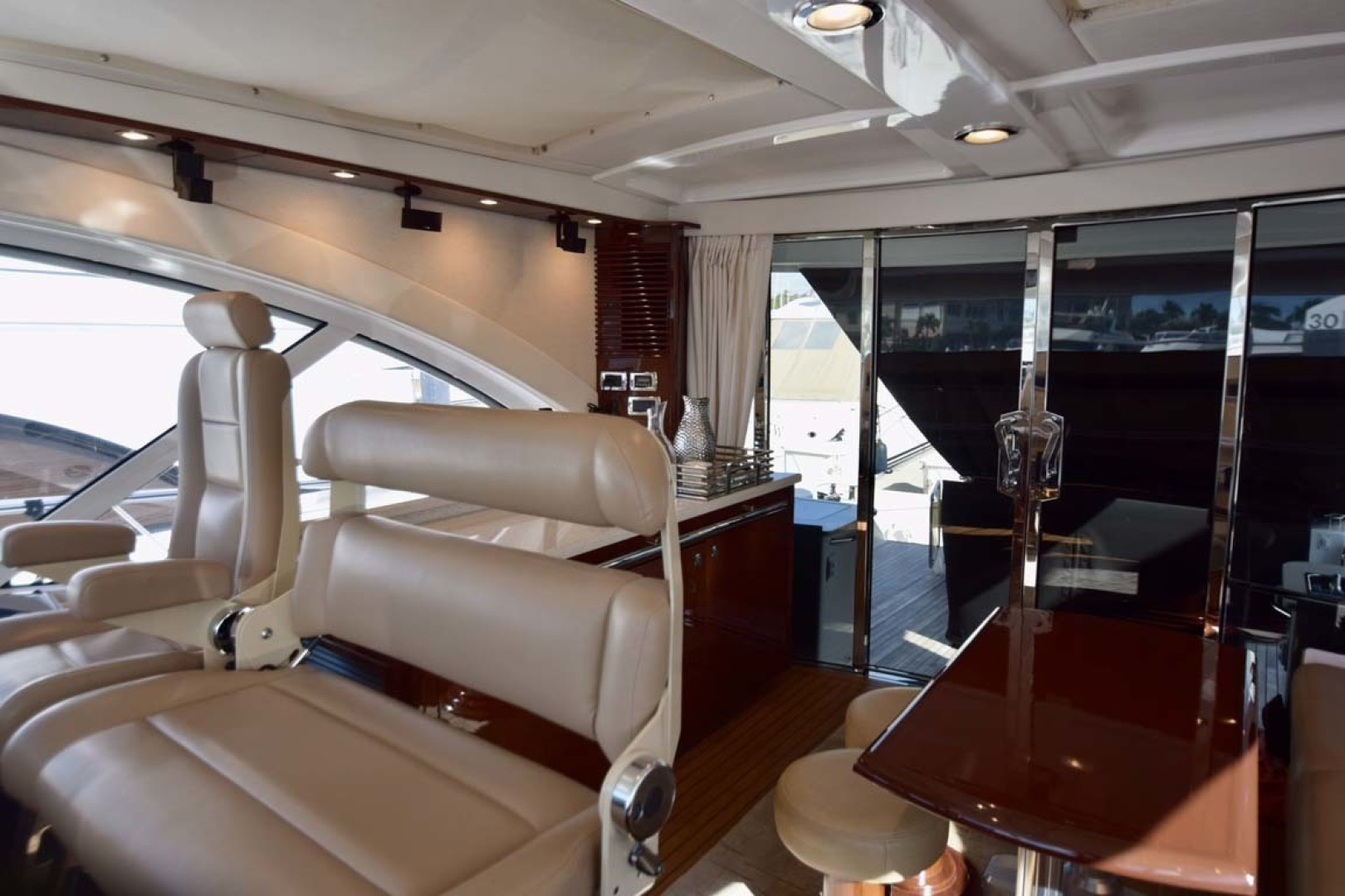 Sea Ray-Sundancer 610 2012-SON RYS Fort Myers-Florida-United States-PORT Side Corner View To Sliding Doors To Aft-1298434 | Thumbnail