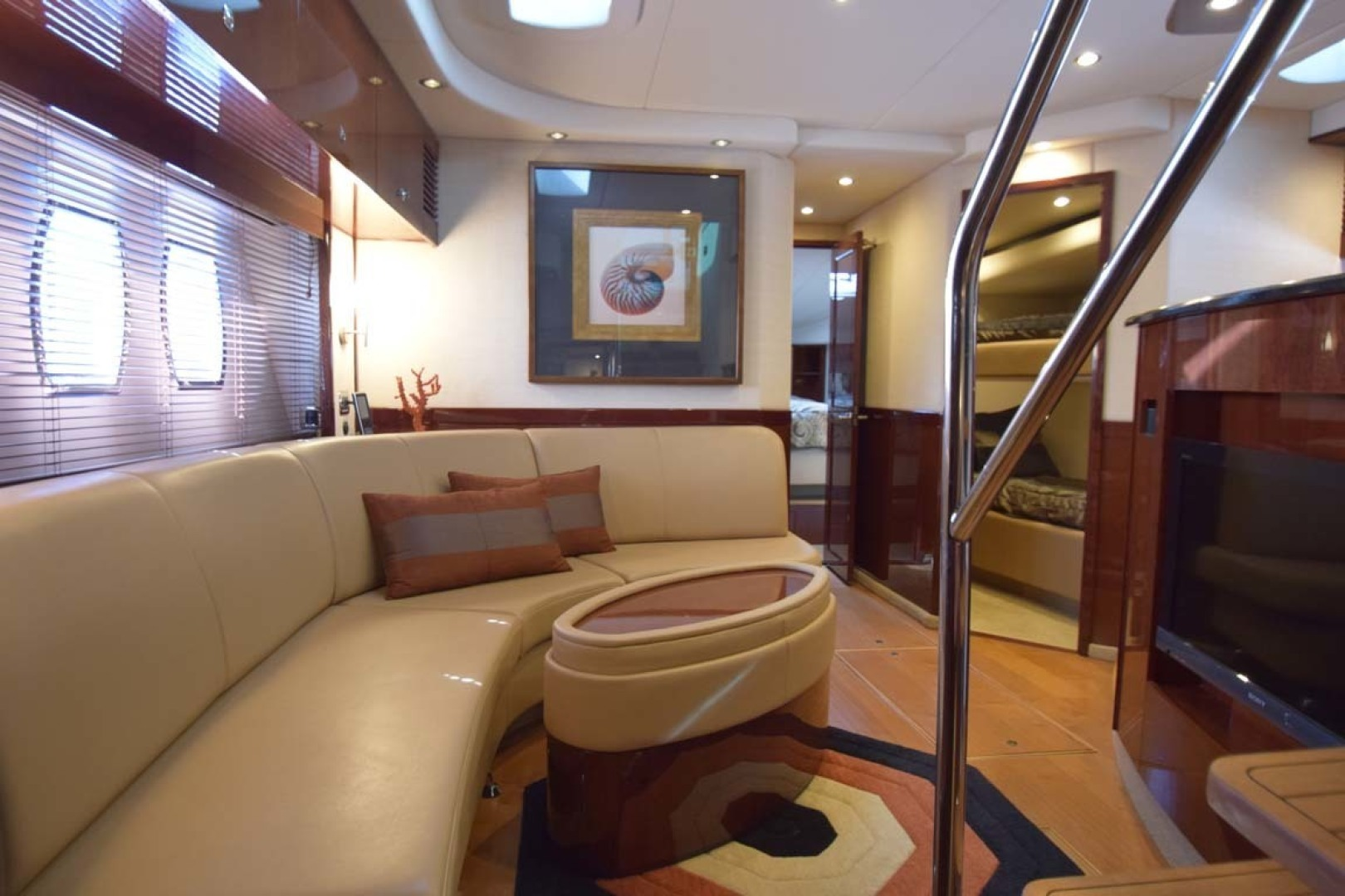 Sea Ray-Sundancer 610 2012-SON RYS Fort Myers-Florida-United States-Lower Salon View From Master Stateroom Door-1298458 | Thumbnail
