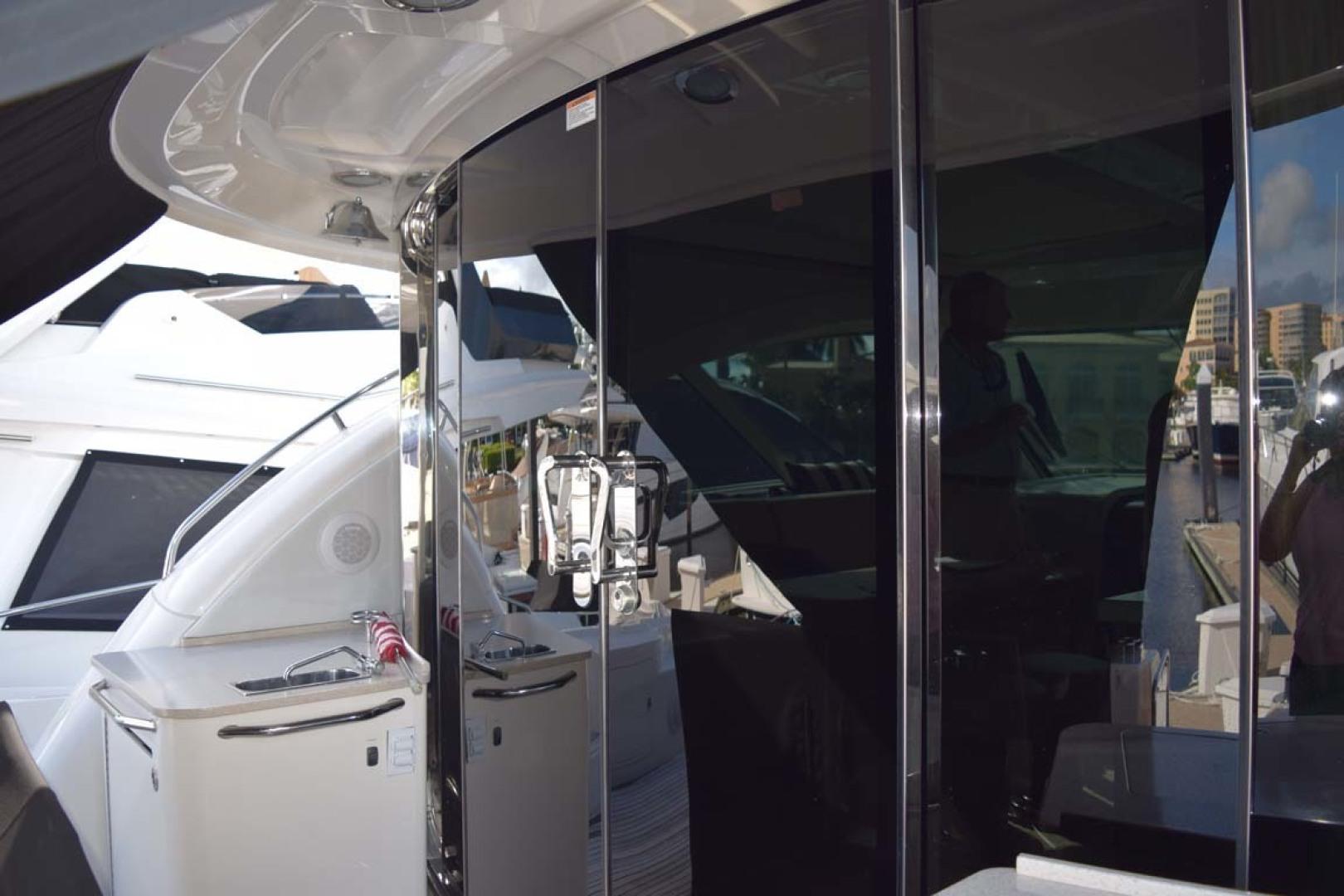 Sea Ray-Sundancer 610 2012-SON RYS Fort Myers-Florida-United States-Sliding Glass Doors Leading To Upper Salon-1298489 | Thumbnail