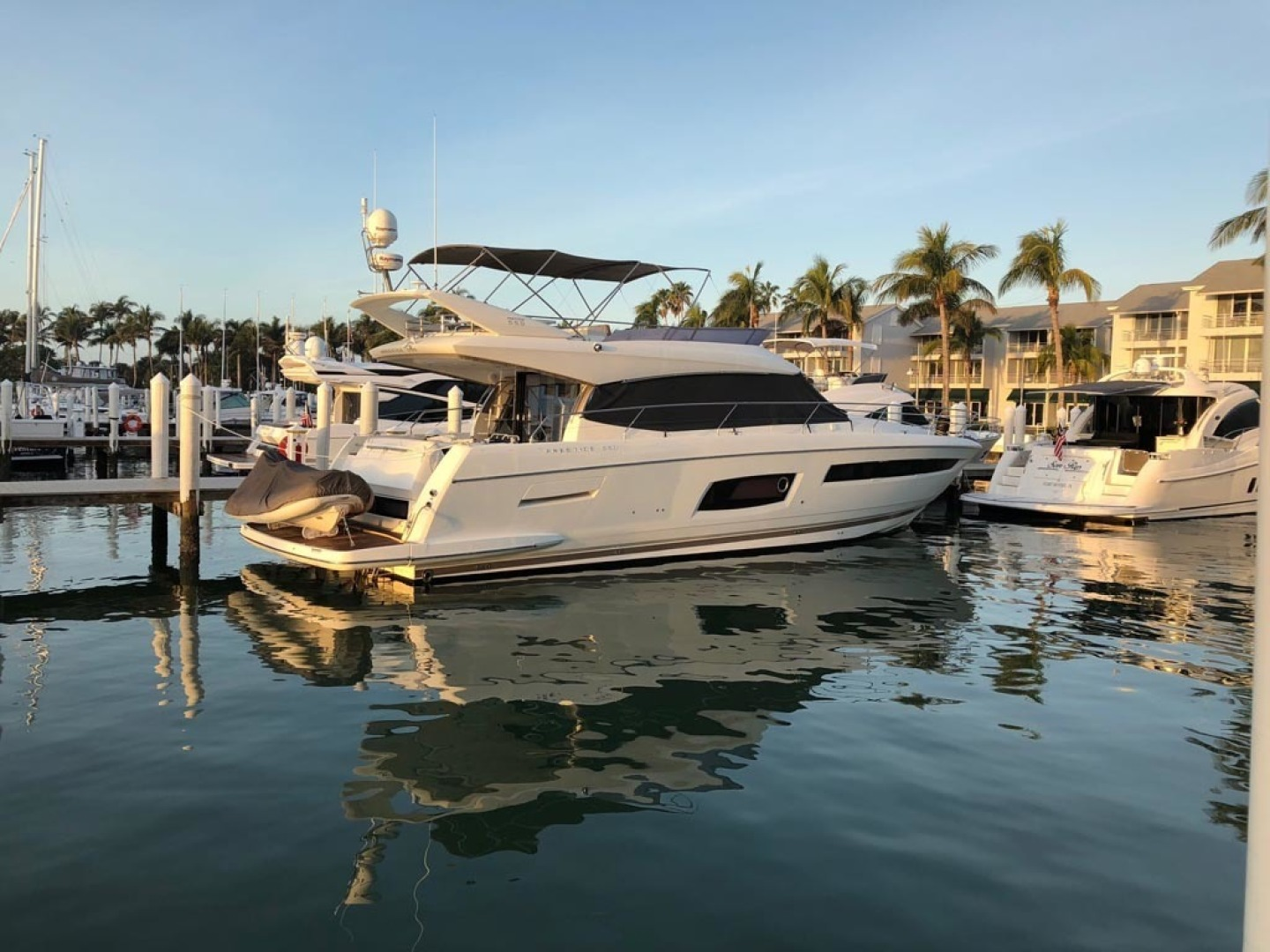 Prestige-550 2015-Higher Powered II Palm Coast-Florida-United States-Starboard Aft Profile-1300825 | Thumbnail