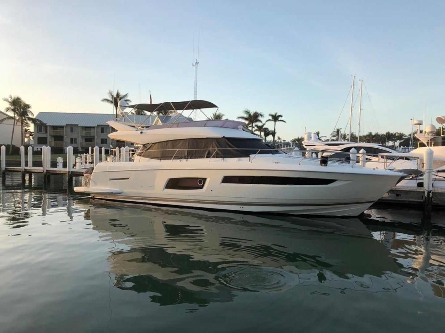 Prestige-550 2015-Higher Powered II Palm Coast-Florida-United States-Starboard At Dock-1300868 | Thumbnail