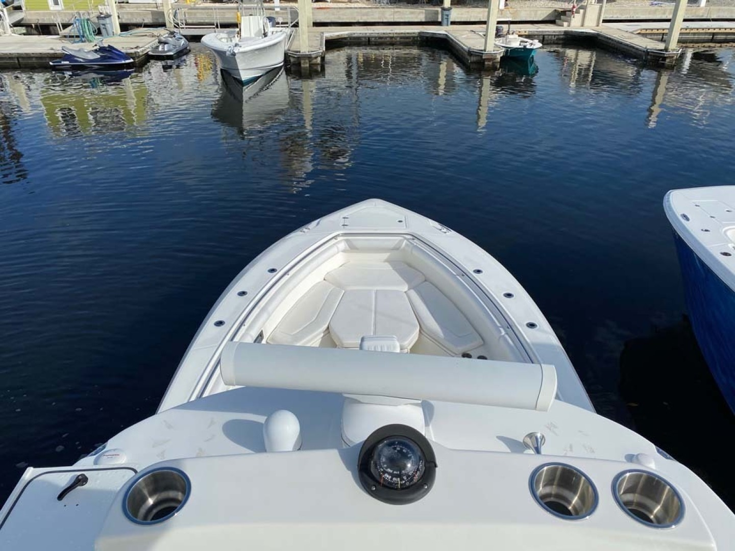 Boston Whaler-370 Outrage 2015-Reel Equity Fort Lauderdale-Florida-United States-Bow From Tower-1301993 | Thumbnail