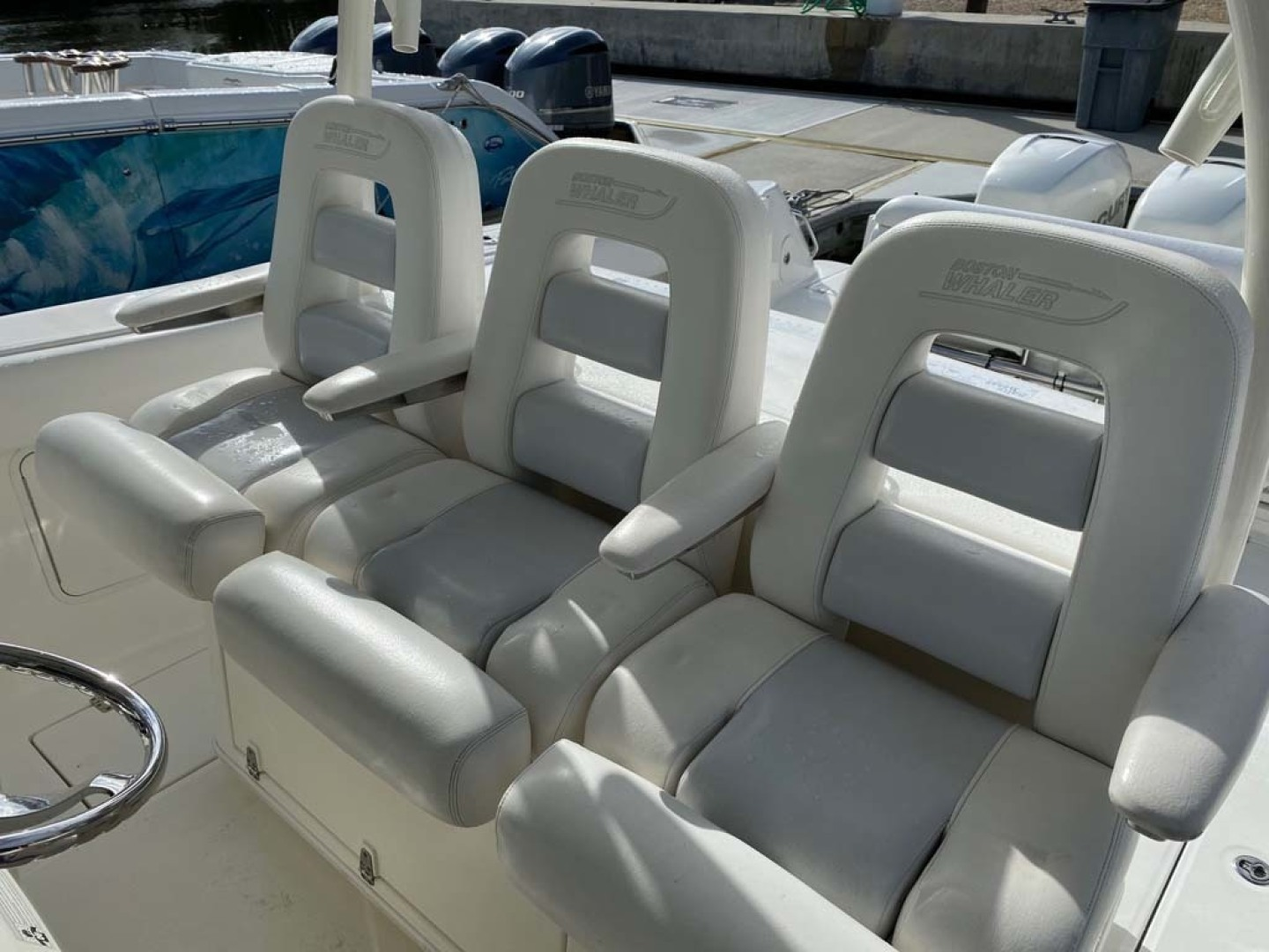 Boston Whaler-370 Outrage 2015-Reel Equity Fort Lauderdale-Florida-United States-Helm Seating-1302003 | Thumbnail