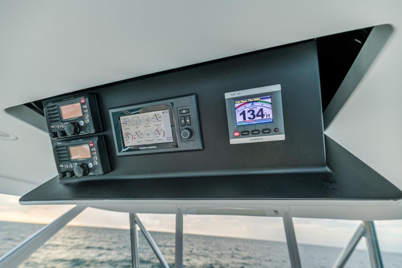 F&S-Custom Carolina with Seakeepers 2013-Epiphany Key Largo-Florida-United States-Overhead Electronics-1447441 | Thumbnail