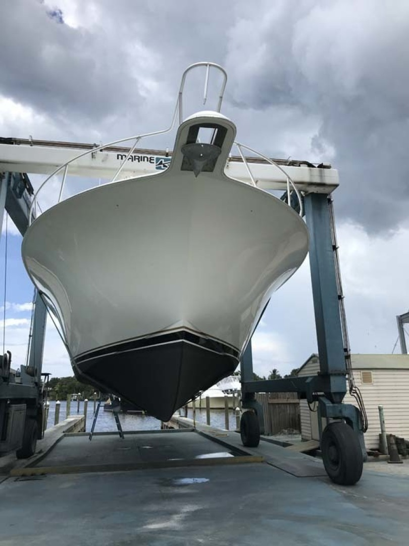 Ocean Yachts-50 Super Sport 2004-LONG STORY Stuart-Florida-United States-Bow Entry On The Hard-1307782 | Thumbnail