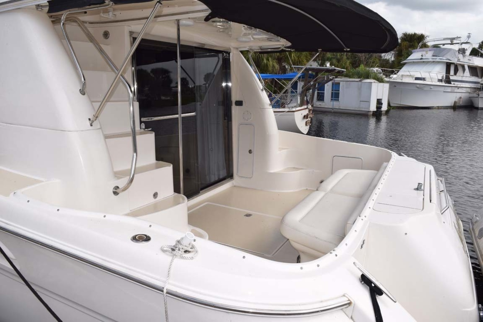 Sea Ray-480 Sedan Bridge 2003-Moondance Stuart-Florida-United States-Aft Deck Port Side-1308094 | Thumbnail