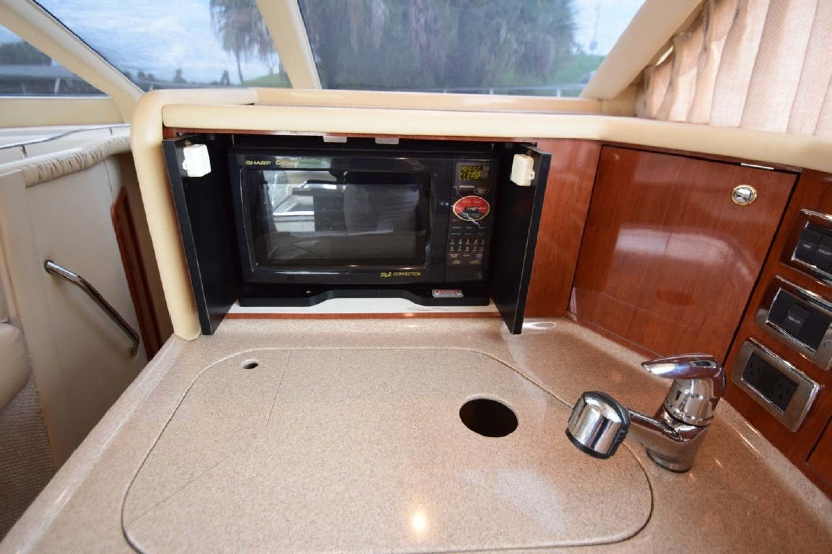 Sea Ray-480 Sedan Bridge 2003-Moondance Stuart-Florida-United States-Galley Microwave, Sink Cover-1308128 | Thumbnail