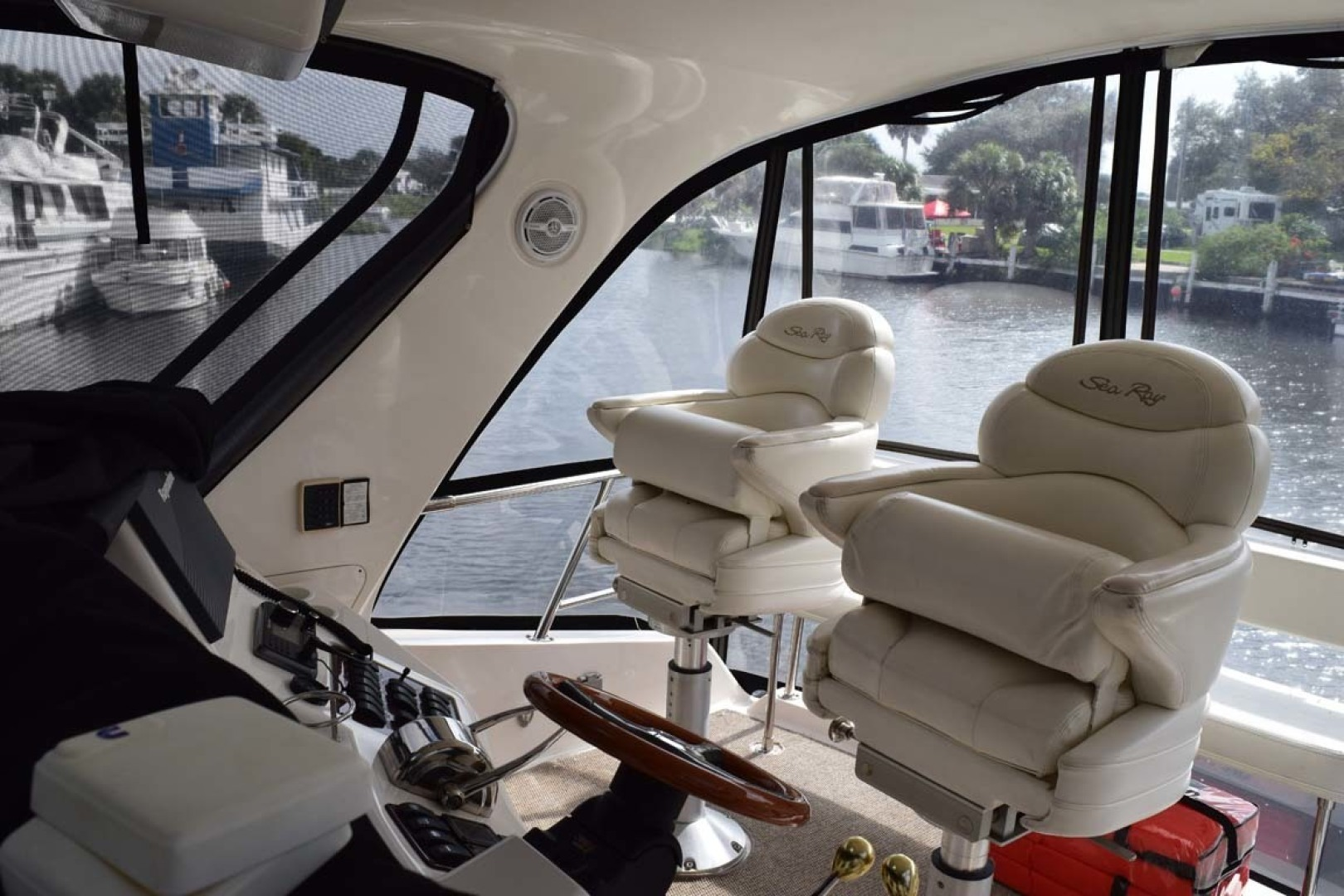 Sea Ray-480 Sedan Bridge 2003-Moondance Stuart-Florida-United States-Flybridge Helm To Stbd-1308109 | Thumbnail
