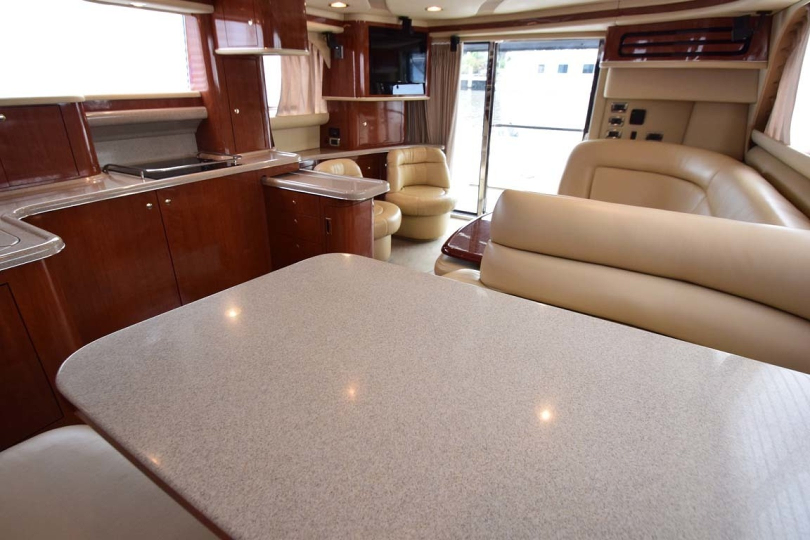 Sea Ray-480 Sedan Bridge 2003-Moondance Stuart-Florida-United States-Dining Table Opposite Galley-1308131 | Thumbnail