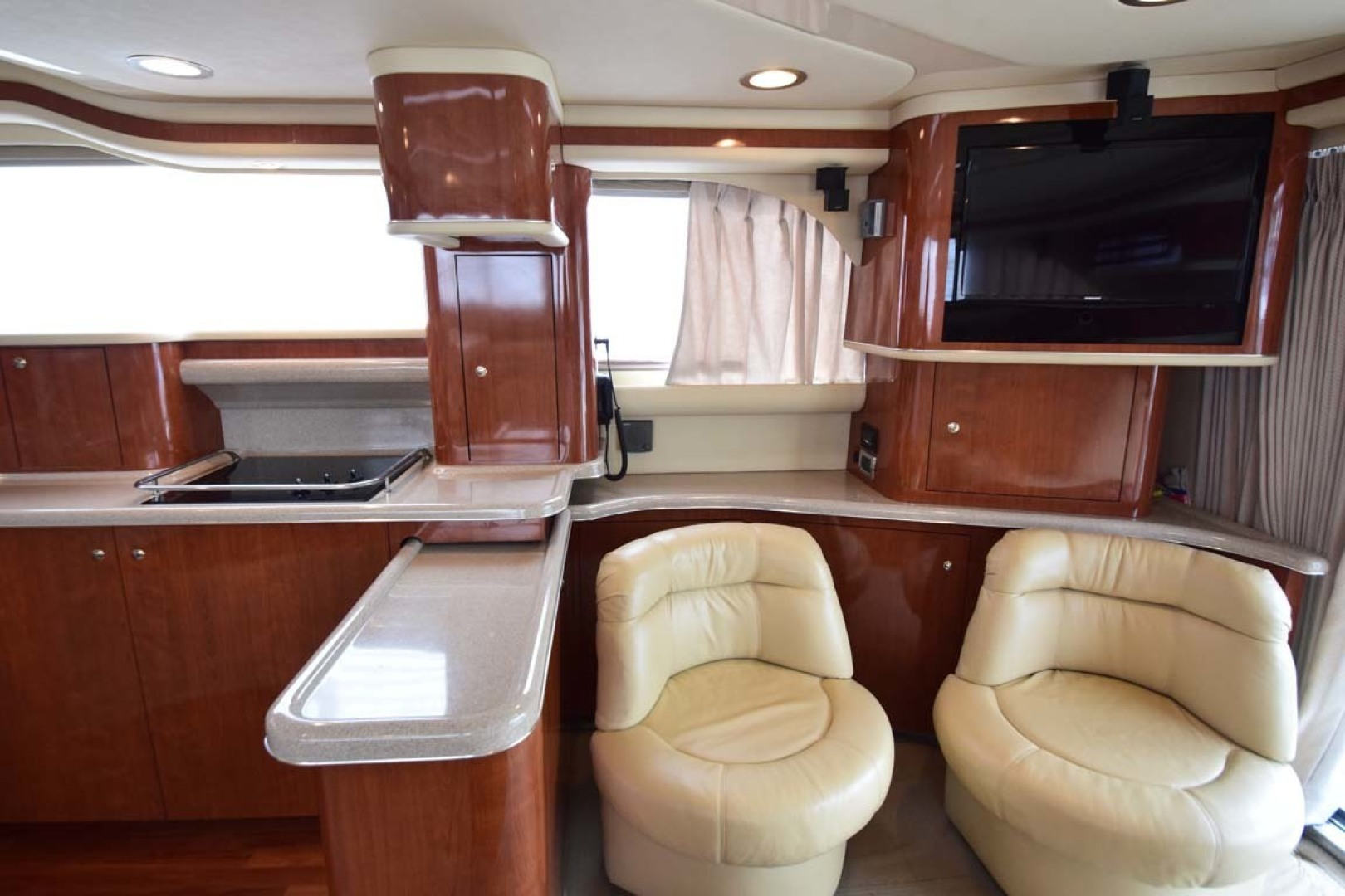Sea Ray-480 Sedan Bridge 2003-Moondance Stuart-Florida-United States-Galley, Salon Chairs And TV-1308120 | Thumbnail