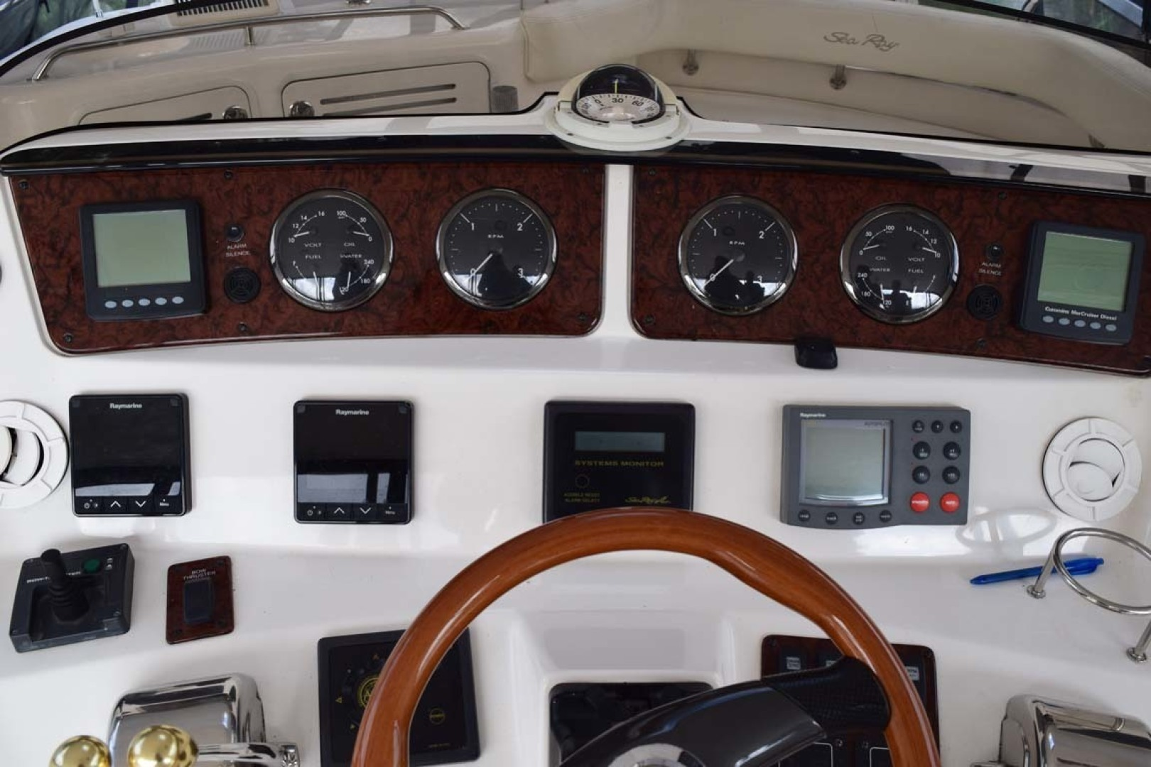 Sea Ray-480 Sedan Bridge 2003-Moondance Stuart-Florida-United States-Helm Overview-1308103 | Thumbnail