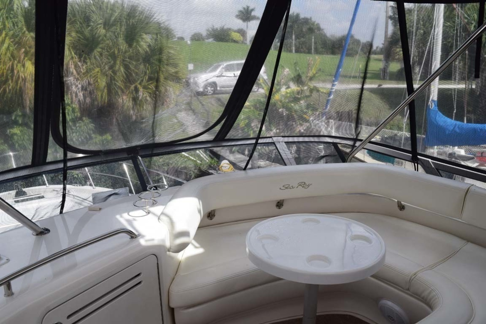 Sea Ray-480 Sedan Bridge 2003-Moondance Stuart-Florida-United States-Flybridge Forward Seating With Table-1308098 | Thumbnail