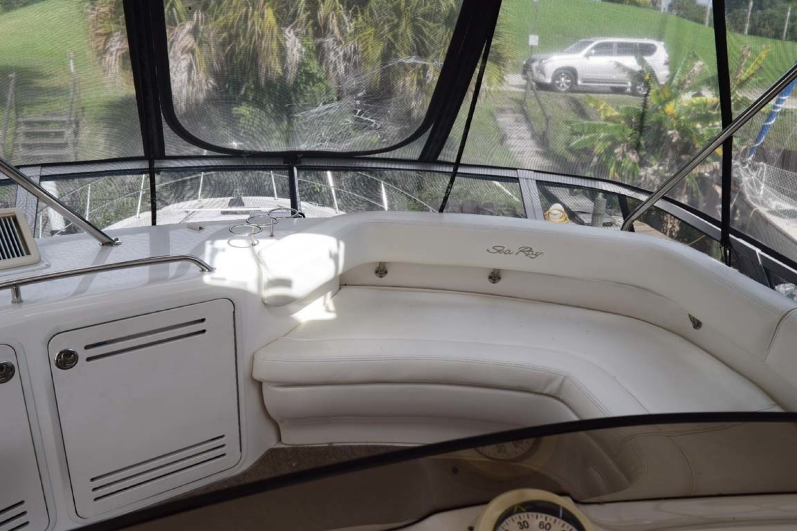 Sea Ray-480 Sedan Bridge 2003-Moondance Stuart-Florida-United States-Flybridge Forward Seating-1308101 | Thumbnail