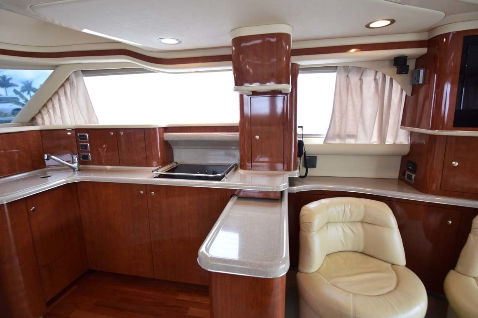 Sea Ray-480 Sedan Bridge 2003-Moondance Stuart-Florida-United States-Galley, Salon To Stbd-1308123 | Thumbnail