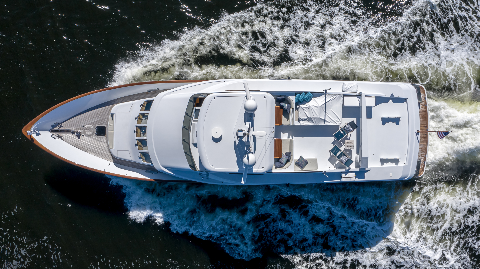 Burger-85 Motor Yacht 2001-Checkers Sandestin-Florida-United States-2011 85 Burger   Arial View-1321678 | Thumbnail