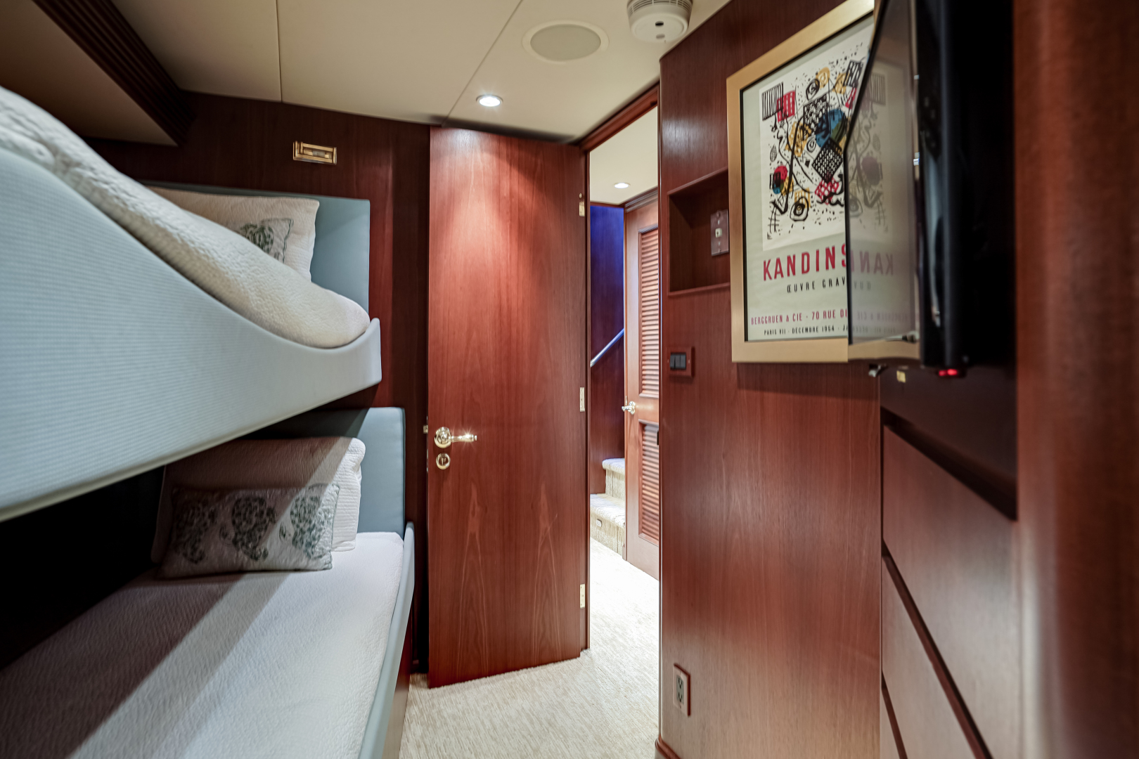 Burger-85 Motor Yacht 2001-Checkers Sandestin-Florida-United States-2011 85 Burger   Bunk Room (2)-1321616 | Thumbnail