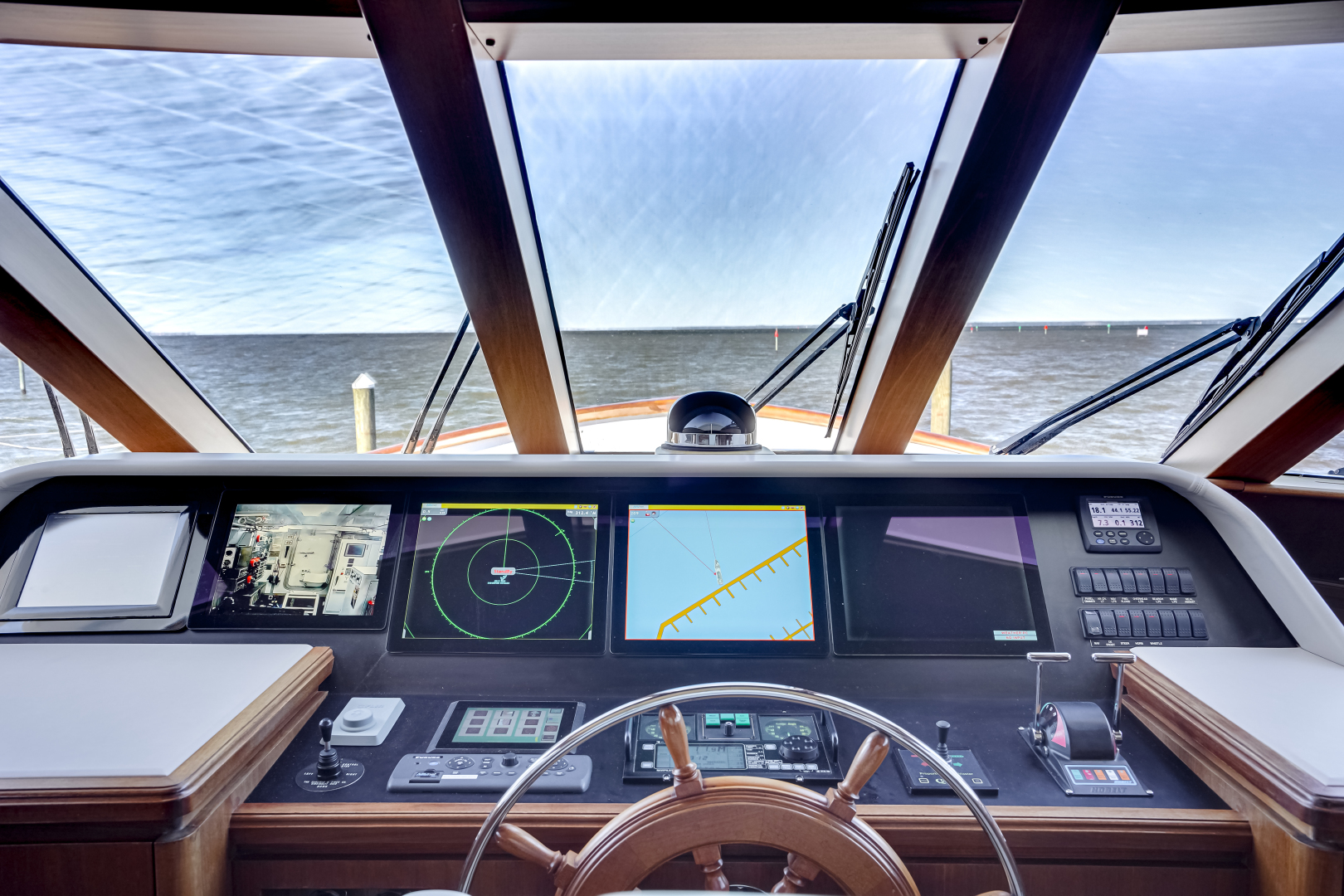 Burger-85 Motor Yacht 2001-Checkers Sandestin-Florida-United States-2011 85 Burger   Pilothouse Helm (1)-1321626 | Thumbnail