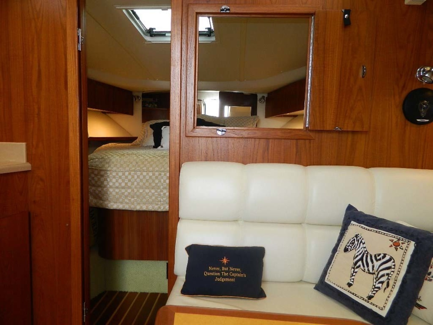 Tiara-Open 2004-Door Knock II Hobe Sound-Florida-United States-Opening to Master Stateroom-1315547 | Thumbnail